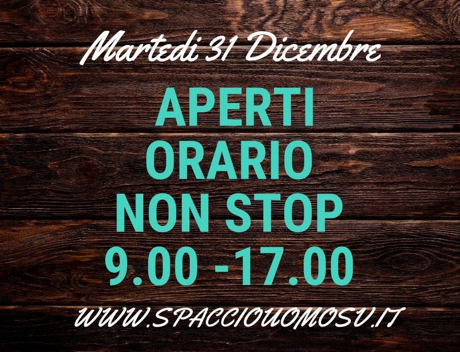 Apertura Spaccio UOMO SV non Stop